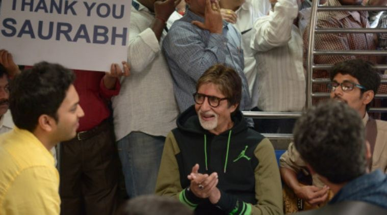 Amitabh Bachchan Mumbai train ride