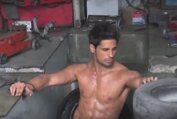 sidharth malhotra abs body